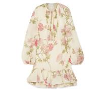 Minikleid aus Seidenchiffon