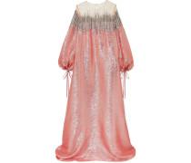 Verzierte Robe aus Seiden-lamé und -tüll