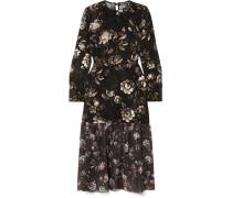 Mina Kleid aus Devoré-chiffon