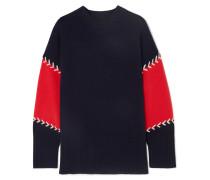 Pullover aus einer Woll-kaschmirmischung in Colour-block-optik