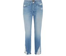 W3 Higher Ground Verkürzte, Hoch Sitzende Jeans in Distressed-optik