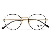 Goldfarbene Brille