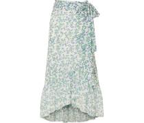 Tilden Wickelrock aus Mesh mit Blumendruck