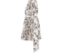 Doric Asymmetrisches Kleid aus Bedrucktem Faille