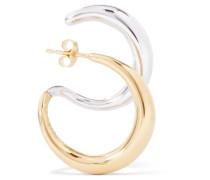 Ohrring aus -vermeil und Silber
