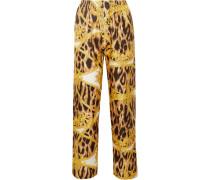 Bedruckte Pyjama-hose aus Seiden-twill