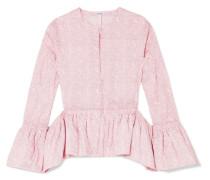 Bluse aus Floral Bedruckter Baumwollpopeline