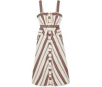 Olivia Gestreiftes Kleid aus Twill aus einer Baumwollmischung