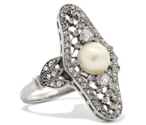Edwardianischer Ring aus Platin
