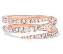 Coil Ring aus 18 Karat  mit Diamanten