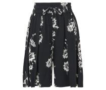 Shorts aus Plissiertem Crêpe mit Blumenprint