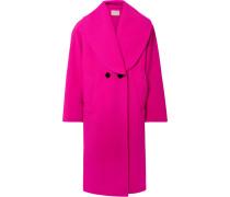 Doppelreihiger Oversized-mantel aus einer Wollmischung