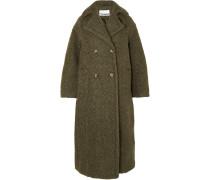 Doppelreihiger Oversized-mantel aus Bouclé aus einer Wollmischung