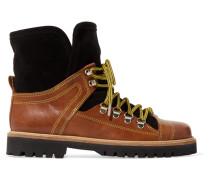 Edna Ankle Boots aus Leder und Veloursleder