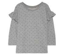 Bedrucktes Sweatshirt aus Frottee aus einer Baumwollmischung