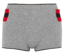 Achrady Shorts aus Kaschmir mit Streifen