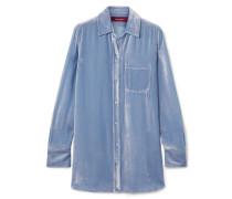 Sander Hemd aus Cord aus einer Seiden-baumwollmischung