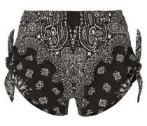 Shorts aus Bedruckter Baumwollpopeline