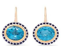 Silver Tile Ohrringe aus 22 Karat  und Sterlingsilber