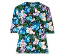 Oberteil mit Blumenprint aus Stretch-jersey