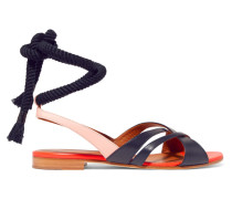 + Roksanda Marlene Ledersandalen in Colour-block-optik