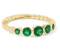 Ring aus 18 Karat  mit Smaragd und Diamanten