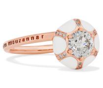 Ring aus 18 Karat  mit Emaille und Diamanten