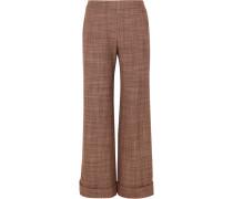Hose mit Geradem Bein aus Woll-tweed