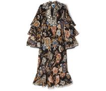 Dominique Kleid aus Plissiertem Georgette