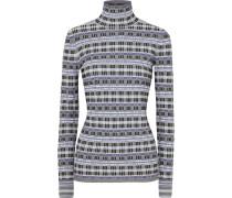 Karierter Pullover aus Jacquard-strick