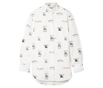 Bedrucktes Hemd aus Popeline aus einer Baumwollmischung