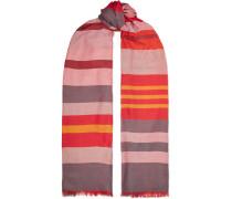 Wendbarer Schal aus einer Gestreiften Kaschmir-seidenmischung
