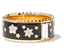 Dark Blossoms Ring aus 18 Karat