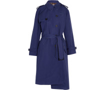 Pulled Oversized-trenchcoat aus Baumwoll-canvas