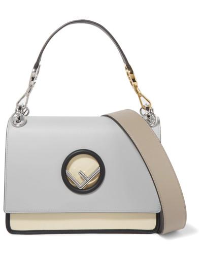 Offizielle Seite Online Verkauf Vermarktbare Fendi Damen Kan I Schultertasche aus Leder in Colour-block-optik Shop Selbst JkI81ne