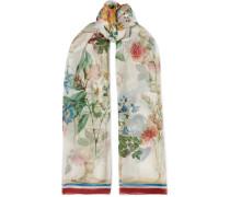 Schal aus Seidenchiffon mit Blumenprint