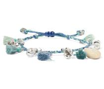 Armband Mit Silberfarbenen Details, Troddeln Und Muscheln -