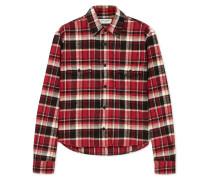 Verkürztes Hemd aus Kariertem Baumwollflanell