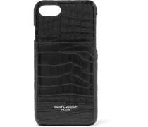 Iphone 8-hülle aus Leder mit Krokodileffekt