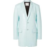 Oversized-blazer aus Glanzleder