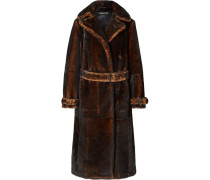 Mantel aus Shearling in Oversized-passform