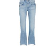 W4 Shelter Austin Ausgefranste, Hoch Sitzende Jeans