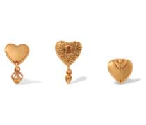 Set aus Drei farbenen Ohrringen