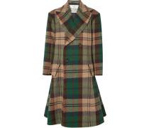 Doppelreihiger Oversized-mantel aus Woll-tweed