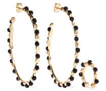 Angola Set aus Goldfarbenen Creolen und Ear Cuff
