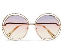 farbene Oversized-sonnenbrille