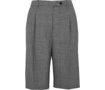 Shorts aus Wolle mit Glencheck-muster