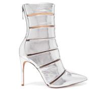 Sommer Ankle Boots aus Metallic-leder und Perspex®