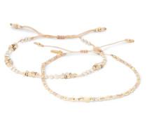Set aus Vereten Armbändern mit Mehreren Steinen
