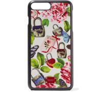Bedruckte Iphone 7 Plus-hülle aus Strukturiertem Leder